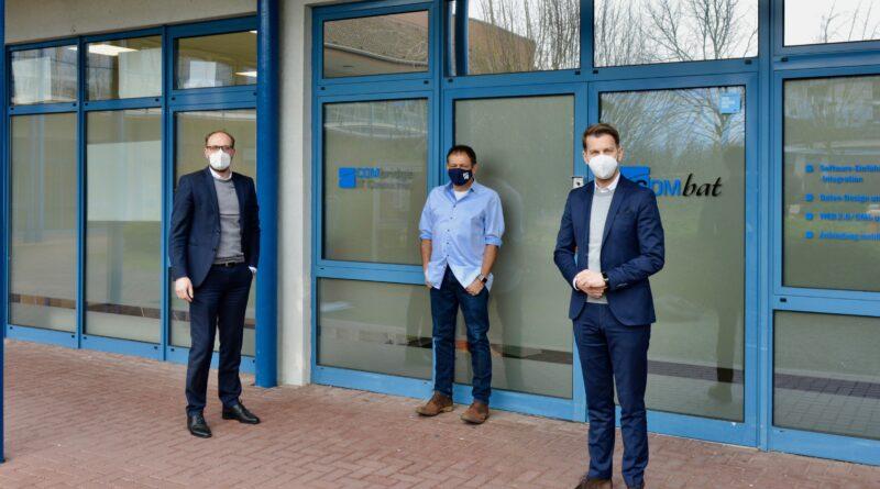 Unternehmensbesuch der WMG-Geschäftsführer Jens Hofschröer und Dennis Weilmann bei der COMbridge IT Consulting GmbH und Geschäftsführer Rainer Gruhlke