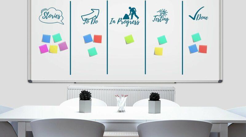 Ein Whiteboard als Sinnbild für agiles Arbeiten