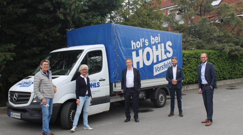 Unternehmensbesuch des Oberbürgermeisters bei der Karl HOHLS KG