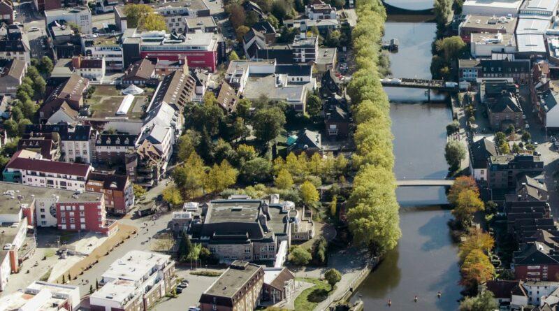 Luftbild des ISG Emsquartiers in Rheine